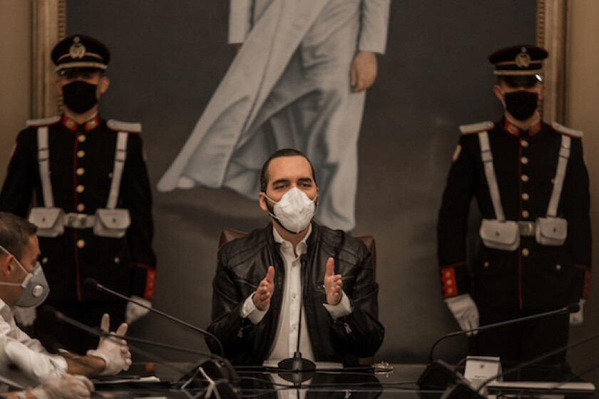 Nayib Bukele, El Salvador, presidente, Central America, LatAm, 575, Covid-19, facemask, coronavirus