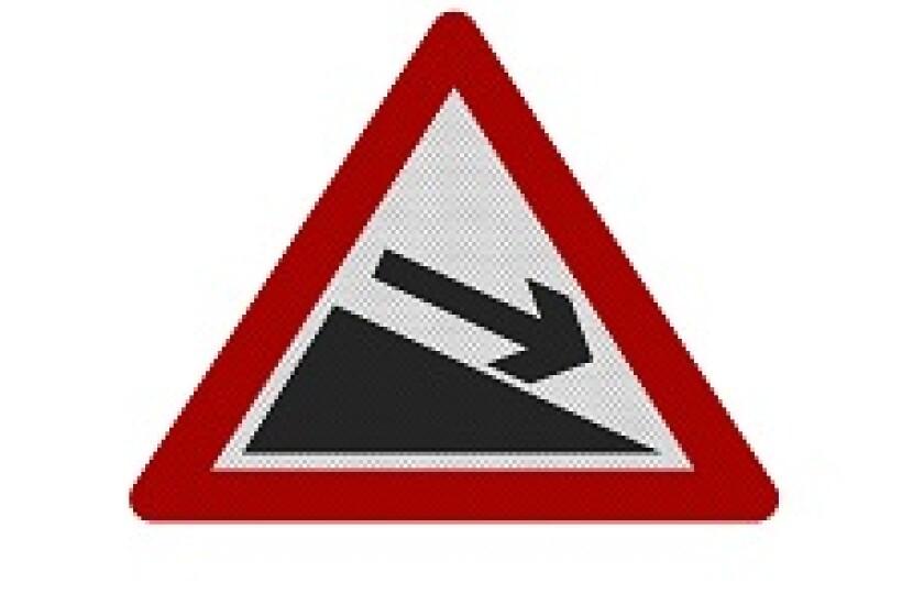 Downward Slope Sign