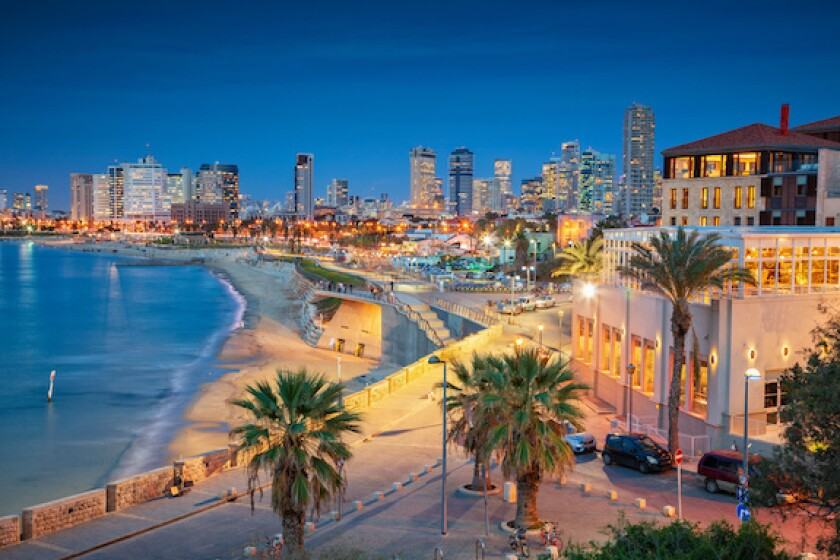Tel Aviv, Israel, sunset, 575, Adobe