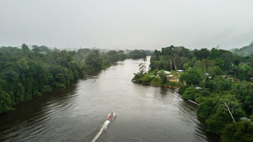 Suriname, river, South America, jungle, LatAm, Caribbean, 575
